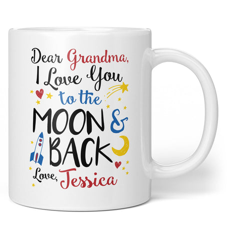 Love You to the Moon & Back - Personalized Mug / Tea Cup