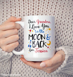 Love You to the Moon & Back - Personalized Mug - [variant_title]