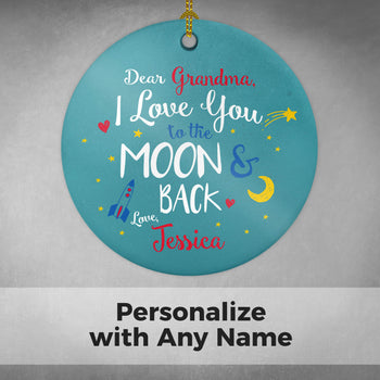 Love You to the Moon & Back - Personalized Ornament