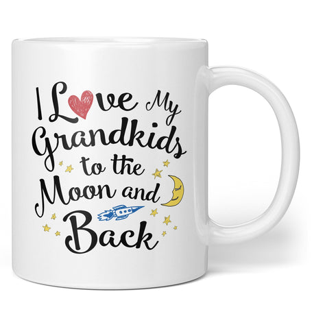 I Love my Grandkids to the Moon and Back - Mug - Coffee Mugs
