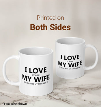 I Love My Wife - Motorcycle - Mug - Coffee Mugs