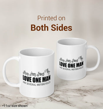 Love One Man and Several Motorcycles - Mug - [variant_title]