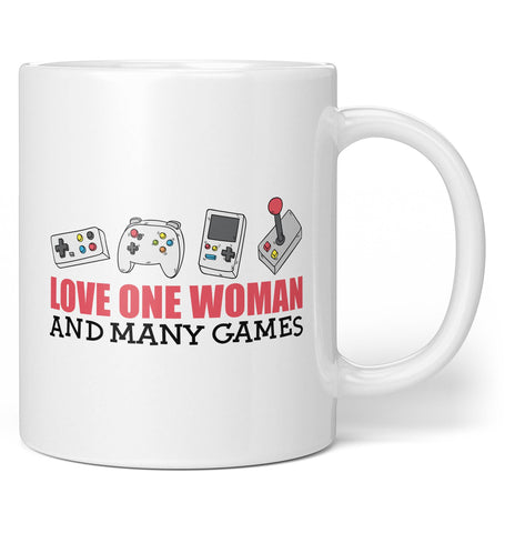 Love One Woman and Many Games - Coffee Mug / Tea Cup