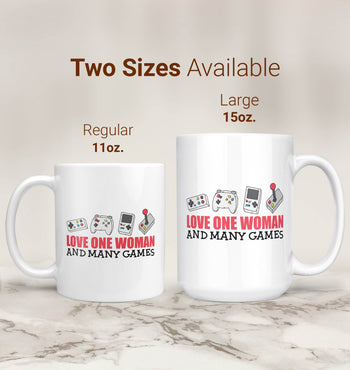 Love One Woman and Many Games - Mug - [variant_title]