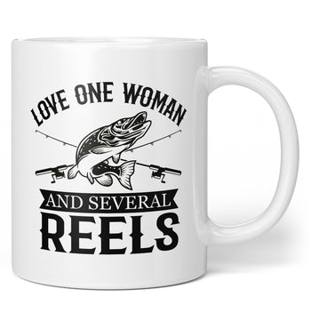 Love One Woman and Several Reels - Coffee Mug / Tea Cup