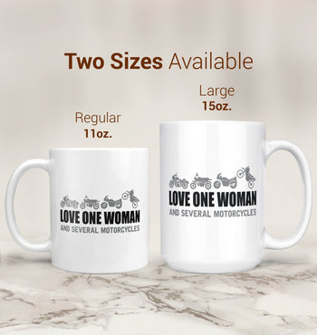 Love One Woman and Several Motorcycles - Mug - [variant_title]