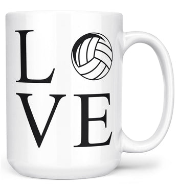 Love Volleyball - Mug - Large - 15oz