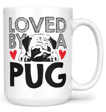 Loved by a Pug - Mug - White / Large - 15oz