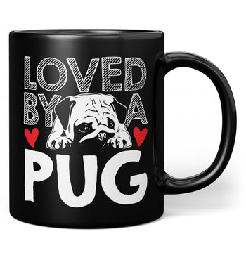 Loved by a Pug - Mug - Black / Regular - 11oz