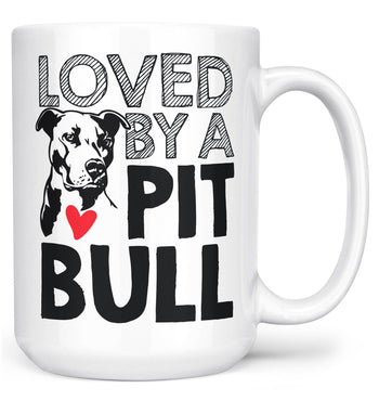Loved by a Pit Bull - Mug - White / Large - 15oz