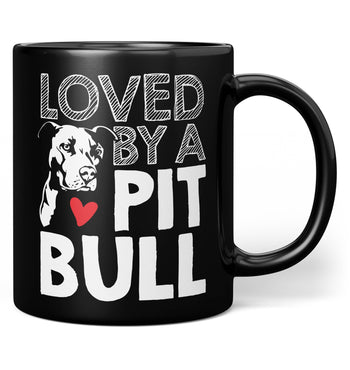 Loved by a Pit Bull - Mug - Black / Regular - 11oz