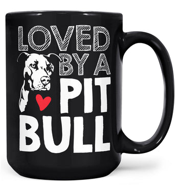 Loved by a Pit Bull - Mug - Black / Large - 15oz