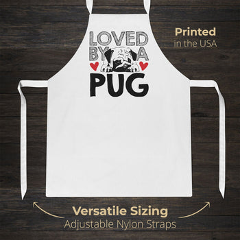 Loved by a Pug - Apron - [variant_title]