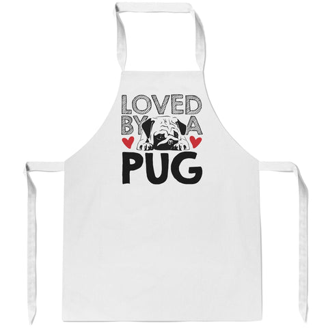 Loved by a Pug - Apron