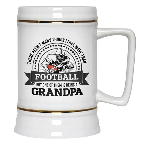 This (Nickname) Loves Football - Personalized Beer Stein