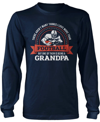 This (Nickname) Loves Football - T-Shirt - Long Sleeve T-Shirt / Navy / S