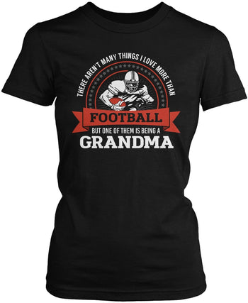 This (Nickname) Loves Football - Personalized Women's Fit T-Shirt