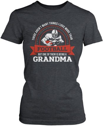 This (Nickname) Loves Football - T-Shirt - Women's Fit T-Shirt / Dark Heather / S