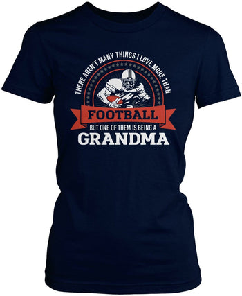 This (Nickname) Loves Football - T-Shirt - Women's Fit T-Shirt / Navy / S