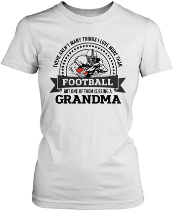 This (Nickname) Loves Football - T-Shirt - Women's Fit T-Shirt / White / S