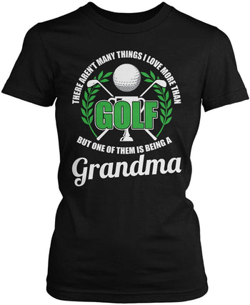 This (Nickname) Loves Golf - Personalized T-Shirt - Women's Fit T-Shirt / Black / S
