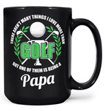 This (Nickname) Loves Golf - Personalized Mug - Black / Large - 15oz