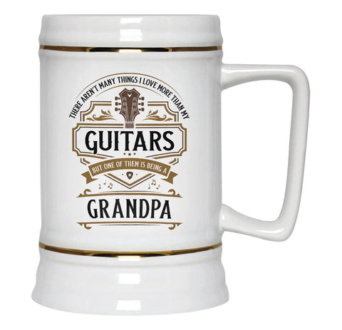 This (Nickname) Loves Guitars - Personalized Beer Stein