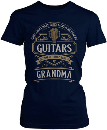 This (Nickname) Loves Guitars - T-Shirt - Women's Fit T-Shirt / Navy / S
