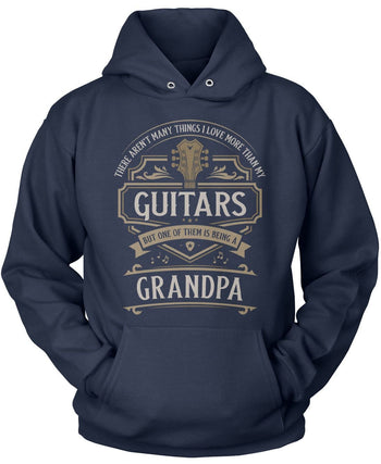 This (Nickname) Loves Guitars - T-Shirt - Pullover Hoodie / Navy / S
