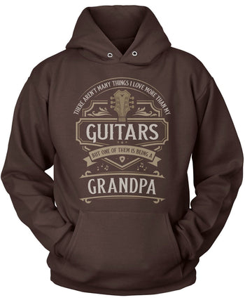 This (Nickname) Loves Guitars - T-Shirt - Pullover Hoodie / Dark Chocolate / S