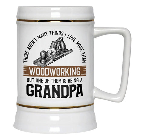 This (Nickname) Loves Woodworking - Personalized Beer Stein