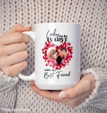Lucky to Be in Love - Personalized Photo Mug