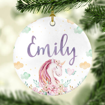 Magical Unicorn - Personalized Ornament