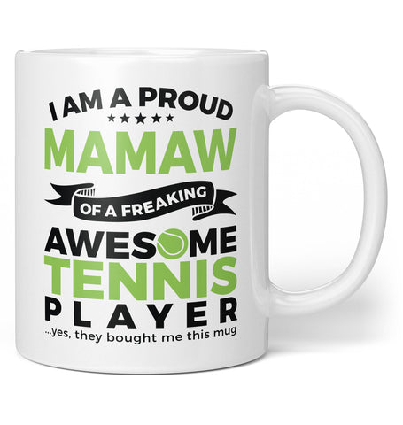 Proud Mamaw of An Awesome Tennis Player - Coffee Mug / Tea Cup