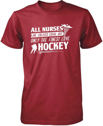 The Finest Nurses Love Hockey - Premium T-Shirt / Cardinal / S