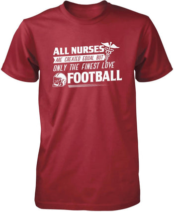 The Finest Nurses Love Football - Premium T-Shirt / Cardinal / S
