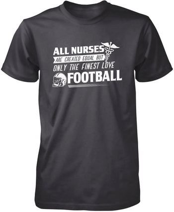 The Finest Nurses Love Football - Premium T-Shirt / Dark Heather / S