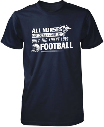 The Finest Nurses Love Football - Premium T-Shirt / Navy / S