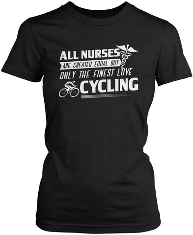 The Finest Nurses Love Cycling Women's Fit T-Shirt