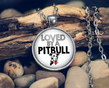 Loved by a Pit Bull - Pendant Necklace - [variant_title]