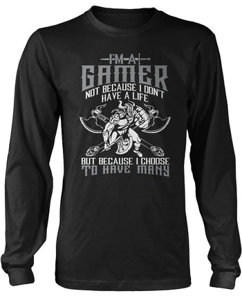 This Gamer Has Many Lives Longsleeve T-Shirt