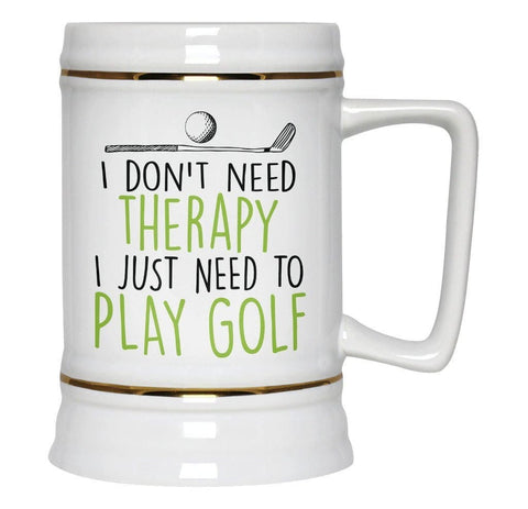 Golf Therapy - Beer Stein - Beer Steins
