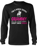 I'm a Cool Horse Riding Grammy Long Sleeve T-Shirt