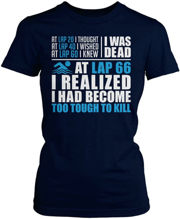 Swimming - Too Tough To Kill - Women's Fit T-Shirt / Navy / S