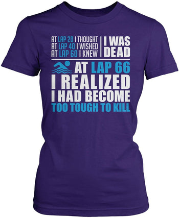 Swimming - Too Tough To Kill - Women's Fit T-Shirt / Purple / S