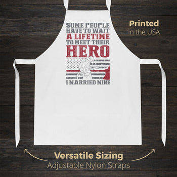I Married My Firefighter Hero - Apron - Aprons