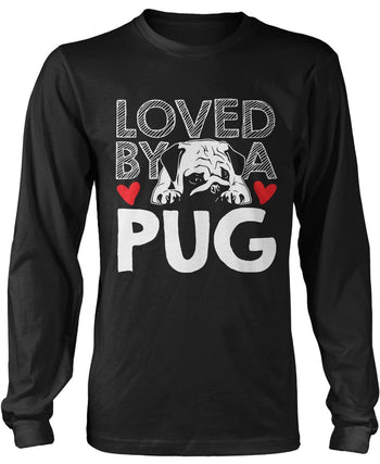 Loved by a Pug Longsleeve T-Shirt