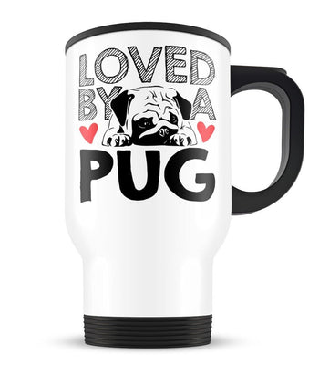 Loved by a Pug - Travel Mug
