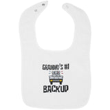 Grammy's #1 Backup - Embroidered Infant Bib