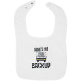 Mimi's #1 Backup - Embroidered Infant Bib